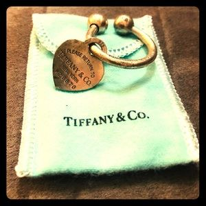 Return to Tiffany Collection Heart Tag Key Ring